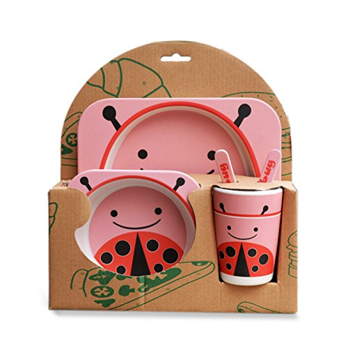 Buy Mstick Bamboo Fiber Kids Dinnerware 5 Pcs Toddler Dinner Set Online at Low Prices in India - Amazon.in  sc 1 st  Amazon.in & Buy Mstick Bamboo Fiber Kids Dinnerware 5 Pcs Toddler Dinner Set ...