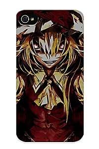 Fireingrass Iphone 4/4s Hybrid Tpu Case Cover Silicon Bumper Video Games Touhou Vampires Flandre Scarlet Banpai Akira