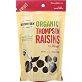 Woodstock Fruit - Organic - Raisins - Thompson - 13 oz - case of 8 - 95%+ Organic - Vegan