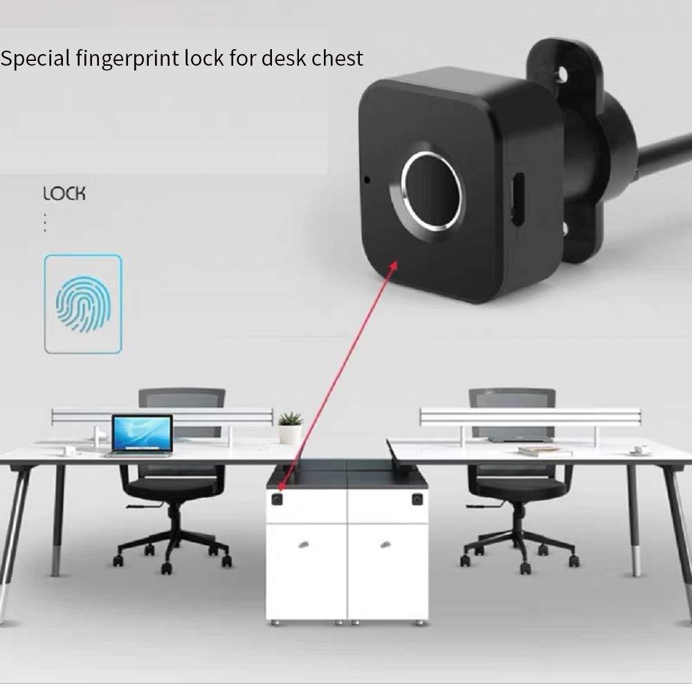 Triple Drawer Fingerprint Lock Desk Fingerprint Drawer Lock Smart Drawer Lock File Drawer Fingerprint Cabinet Lock