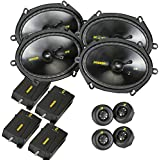 Kicker CS speaker package - Two pairs of Kicker CS Series 6x8 Component Speakers 40CSS684