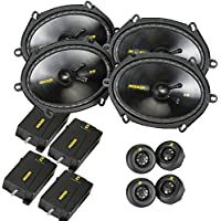 Kicker CS speaker package - Two pairs of Kicker CS Series 6x8 Component Speakers 40CSS684