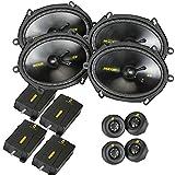6 x 8 component speakers package - Kicker CS speaker package - Two pairs of Kicker CS Series 6x8 Component Speakers 40CSS684