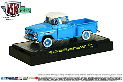 (1958 CHEVROLET APACHE STEP SIDE * Auto-Trucks Series Release 34 * M2 Machines 2015 Castline Premium Edition 1:64 Scale Die-Cast Vehicle ( R34 15-38 ))