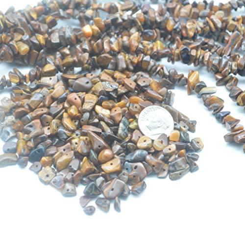 (Catotrem Chips Irregular Tiger Eye Gemstone Loose Beads Irregular Stone16-34 inches 5-15mm for Beadwork Jewelry Making)