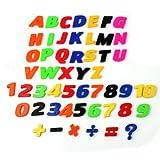 Refaxi 52x Colorful Magnet Letter Alphabet Number Fridge Children Educational Toy Set