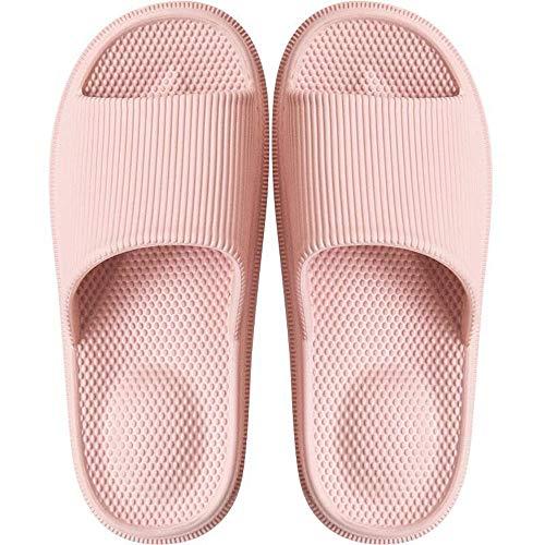Dimensioni Lixizhong Fondo Interni E Massaggio Paio 36 Antiscivolo Pink Pink Da colore Bagno Pantofole Casa Sandali Spessi q6BqHS