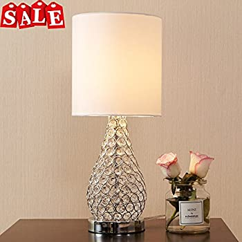 POPILION Alloy Crystal Base Elegant Appearance Table LampLong Lampshade