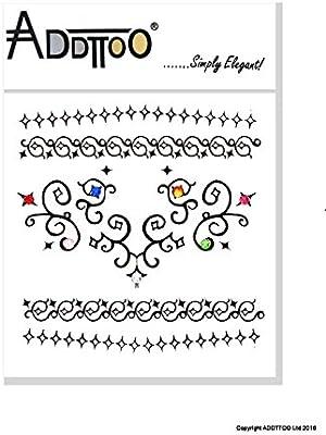 Black Diamond diseño temporal tatuaje cadena colgante joyas con ...