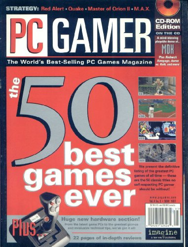 PC Gamer Magazine May 1997, the 50 Best Games Ever (Best Pc Games Of 1997)
