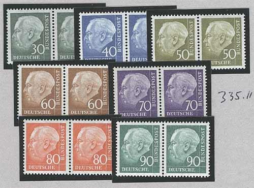 Goldhahn BRDHeuss IIPaarsatzpostfrisch - Briefmarken für Sammler