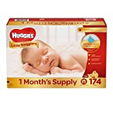 Branded Huggies Little Snugglers Diapers - Diaper For Newborn - 174 Ct. ( Weight Up To 10 Lbs.) (Bulk Qty at Whoesale Price, Genuine & Soft Baby diaper)