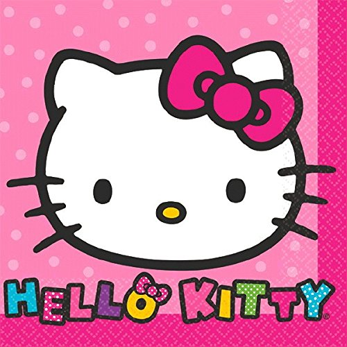 Beverage Napkins | Hello Kitty Rainbow Collection | Party Accessory