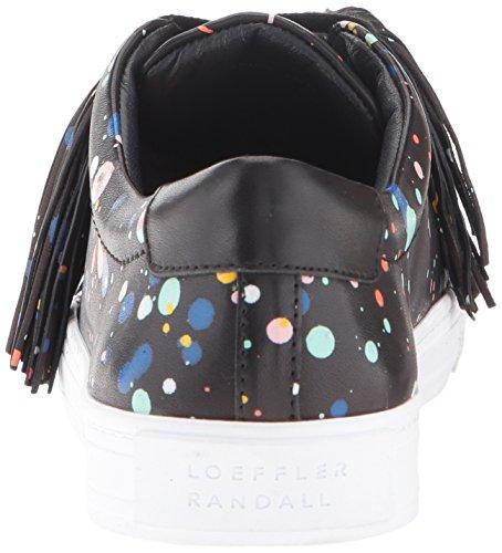 Pompons Noir Femmes Sneaker nappa Randall Mode Logan Loeffler Éclabousser Plusieurs BwgOqtn