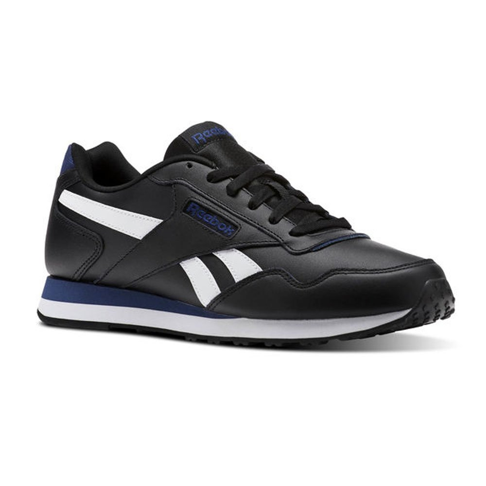 Reebok ROYAL Glide LX – Scarpe da ginnastica, Uomo, Nero – (cp-black/Washed Blue/White)