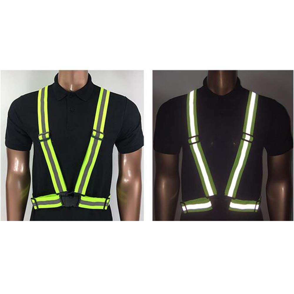 GOGO Adult Wholesale Reflective Vest For High Visibility, Motorcycle Jacket/Running Gear/Shirt-NeonGreen-50PCS by GOGO (Image #6)
