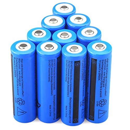 NEW 10PCS 3.7V 5000mAH Li-ion Rechargeable 18650 Battery For Flashlight Torch USA