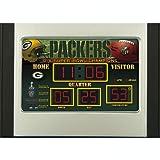Green Bay Packers Scoreboard Desk Clock