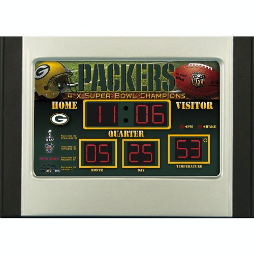Green Bay Packers Scoreboard Desk Clock ()