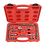 gear wrench spark plug ratchet - TEKTON 1/4-Inch and 3/8-Inch Drive Socket Set, Inch/Metric, 6-Point, 3/16-Inch - 3/4-Inch, 5 mm - 19 mm, 45-Piece | 13501