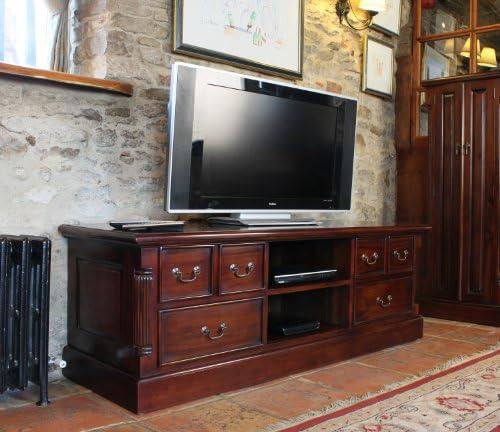 Baumhaus La Roque - Mueble de televisión con Pantalla panorámica, Hecha a Mano, Color Caoba: Amazon.es: Electrónica