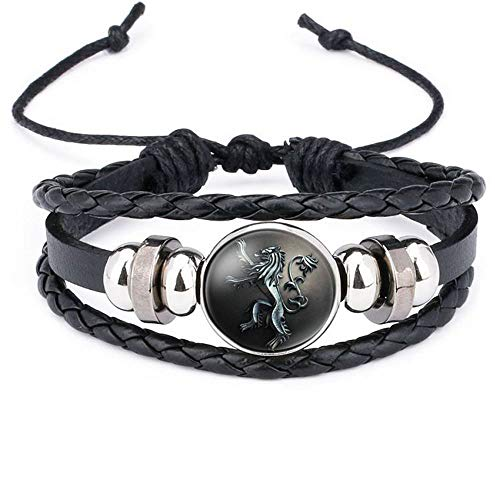 BRE Bracelet Leather Game of Thrones Icon Badge Cuff Bracelets Jewelry Wristband D