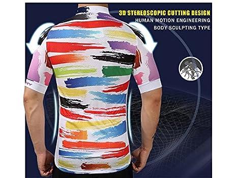 XDXDWEWERT Pantalones de Ciclismo Pantalones de Montar en BIC Deportes al Aire Libre de los Hombres de la montaña Top de Ciclismo de Secado rápido + Shorts ...