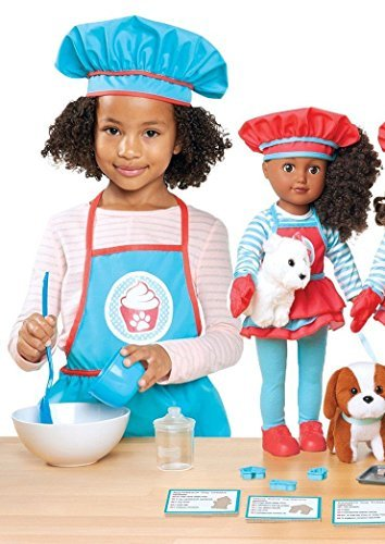 My Life Doll as 18 Pet Treat Baker Playset / 24 Piece Set - African American by Madame Alexander (My Life As 18 Baker Doll African American)