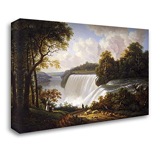 Niagara Falls Scene 37x28 Gallery Wrapped Stretched Canvas Art by DeGrailly, -