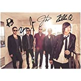 Sleeping With Sirens Autographed Signed A4 21cm x 29.7cm Poster Photo by Unknown