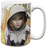 Zak Designs Marvel Comics 15 oz. Ceramic Coffee Mug, Spider Gwen