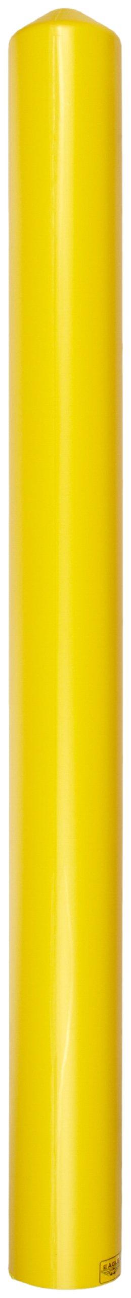 Eagle 1735 HDPE 4'' Smooth/Bollard Post Sleeve, Yellow, 5.25'' OD, 56'' Height