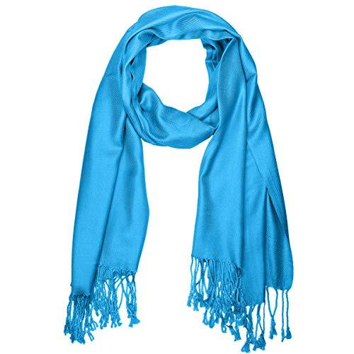 "Falari Women's Solid Color Pashmina Shawl Wrap Scarf 80"" X 27"" Turquoise from Falari"