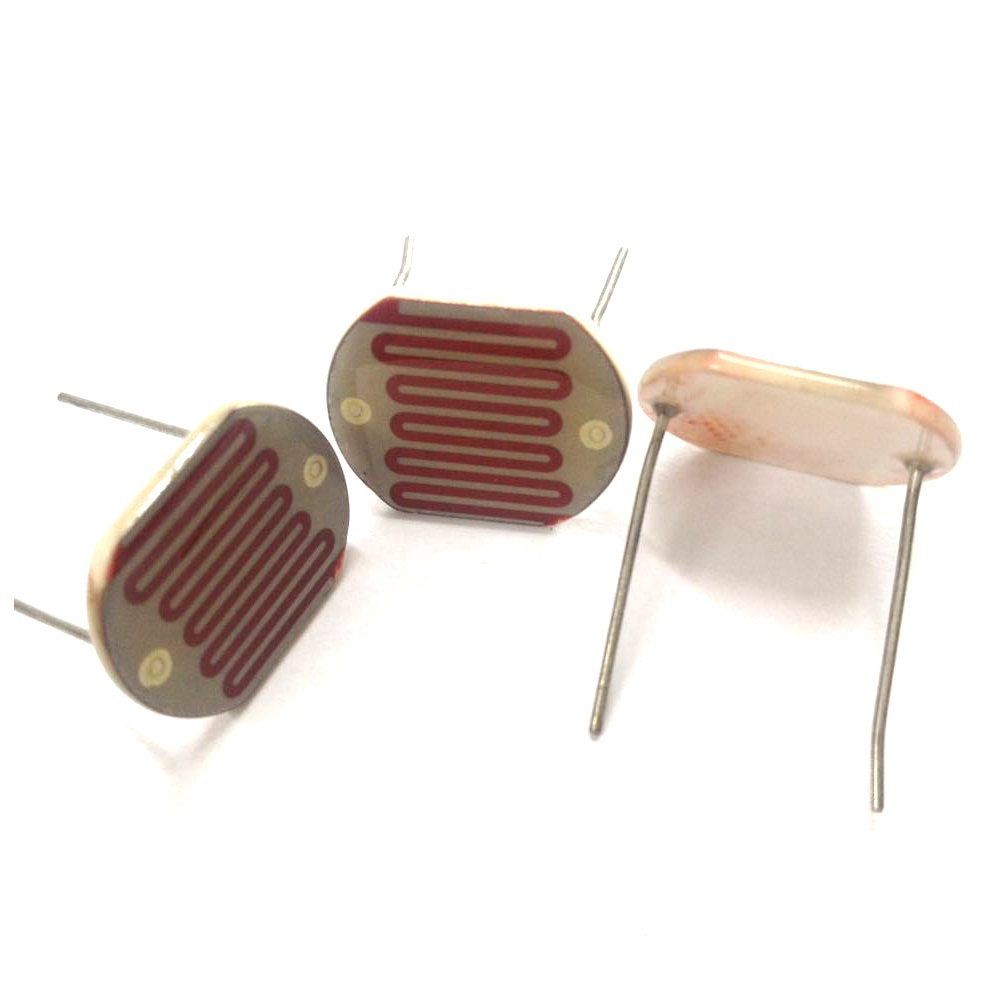 15pcs Photoresistor Photoconductive Cell Light Dependent Resistor 5-10K LDR 25mm Ceramic Pacakge