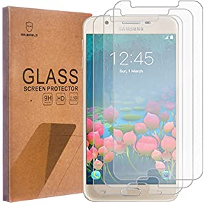 [3-PACK] - Mr Shield For Samsung Galaxy J7 Prime [Not For J7] [Tempered Glass] Screen Protector [0.3mm Ultra Thin 9H Hardness 2.5D Round Edge] with Lifetime Replacement Warranty