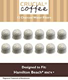 12 Hamilton Beach Charcoal Water Filters, Compare to Part # 80674, Designed & Engineered by Crucial Coffee