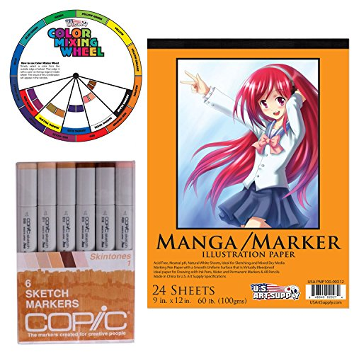 Copic Markers 6 Piece Sketch Set Skin Tones I With Us Art