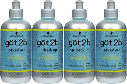 Got2b Spiked Up Styling Gel - got2b Spiked-Up Max Control Styling Gel, 8.5 Ounce (Pack of 4)