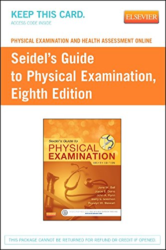 Physical Examination and Health Assessment Online for Seidel's Guide to Physical Examination (Access Code), 8e