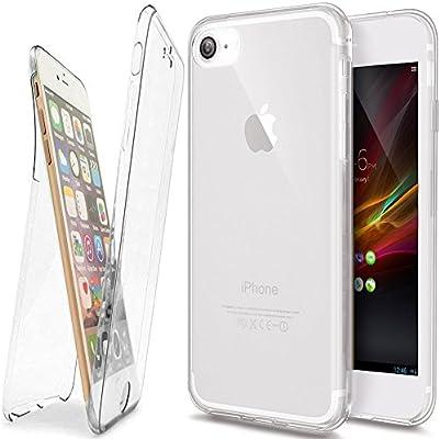 cffa16b5cfd Carcasa iPhone 8 Plus, Caso Funda iPhone 8 Plus, JAWSEU iPhone 8 Plus/7  Plus Carcasa Caso Cover 360 Grados Protección Completa Skin Frente y Detrás  Funda ...