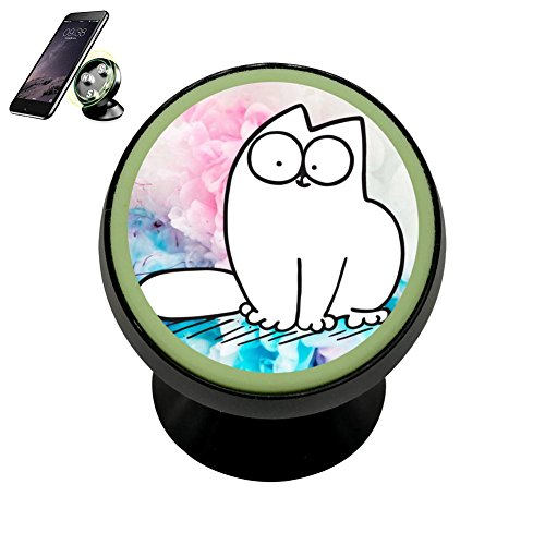 Super Space Little-Simon-Cat DIY Magnetic Phone Car Mount Holder for iPhone 360 Rotation Noctilucent Function