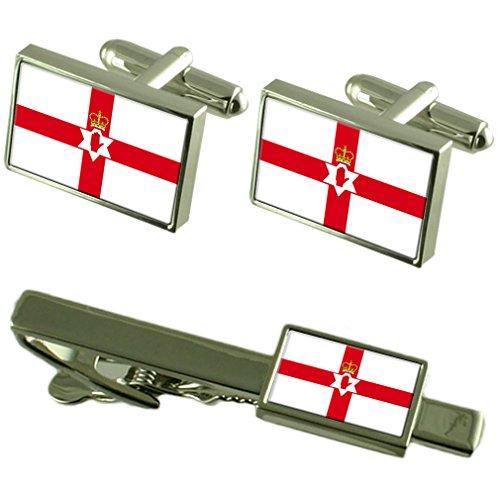L'Irlande du Nord (officieux) Cravate manchette drapeau un Ensemble cadeau correspondant