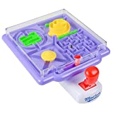 Tilt Maze Game by Gamieac, 4 in 1 Mazes w/Tilting Joystick - Bonus 'I'm a Gamieac' Challenge - Super Fun Puzzle Labyrinth Maze Game for Kids & Adults - Educative Toy for Focus, Motor Skills, Reason