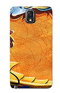 Crazinesswith OniCLez3284NXtsv Case Cover Galaxy Note 3 Protective Case Cat And Owl Around The Spider Web( Best Gift For Friends)