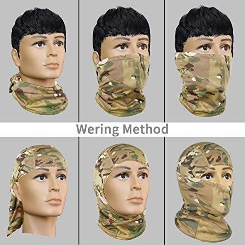 Achiou Balaclava Face Mask UV Protection for Men Women Sun Hood Tactical ski 3