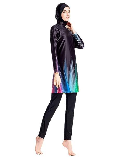 Amazon.com: BESBOMIG - Bañador musulmán para mujer, traje de ...