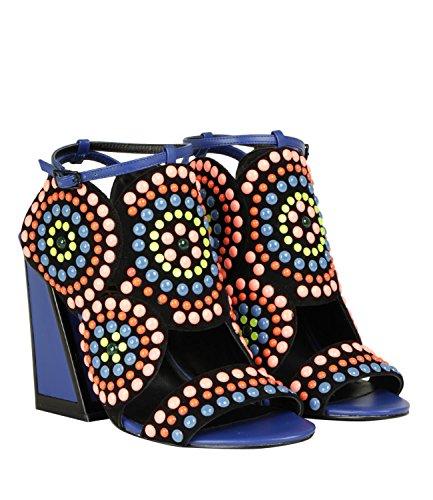 Kat PE18 Scarpe Maconie Frida Strong Donna Tacco Leather Blue 10 UqUaC4Pwx