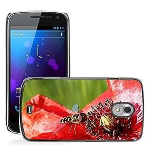 Etui Housse Coque de Protection Cover Rigide pour // M00134427 Syrphidae insectos amapola Klatschmohn // Samsung Galaxy Nexus GT-i9250 i9250