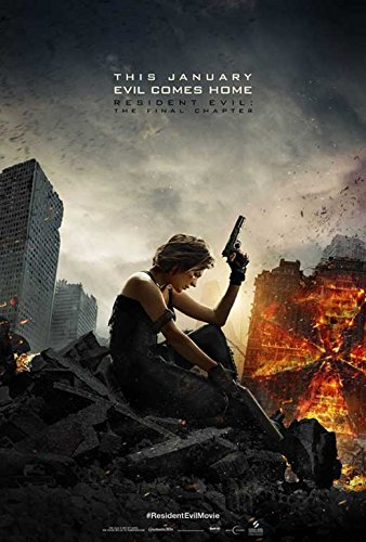 Resident Evil  The Final Chapter Movie Poster 11 X 17 Ruby Rose  Milla Jovovich  F  Made In The U S A
