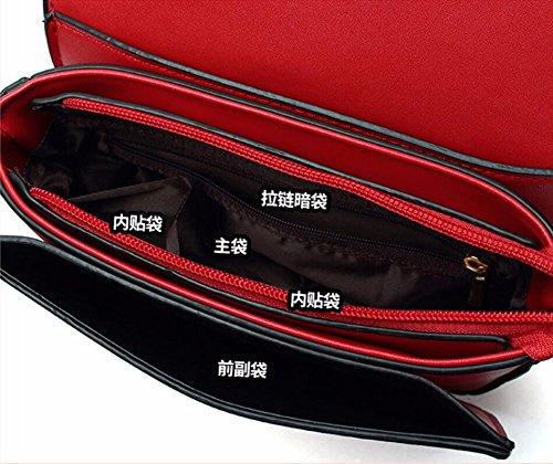Bandoulière Simple Messenger Red Bandoulière Vert Mini Meaeo Nouveau Main Sac Sacs Sauvage Large À Carré À Bag Sac wPATUvqE
